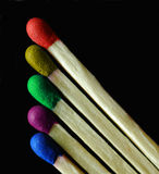 цветастые спички стоковые изображения rf