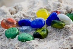 цветастые стеклянные камушки Стоковое Фото