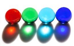Цветастые стеклянные шарики Стоковое Фото