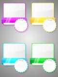 цветастые стикеры комплекта Стоковая Фотография RF