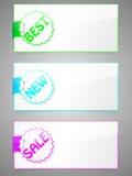 цветастые стикеры комплекта Стоковое Изображение RF