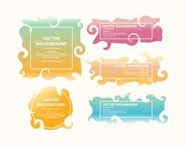 цветастые стикеры комплекта Стоковые Фото