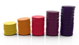 цветастые стога плит Стоковое Изображение RF