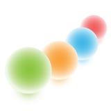 цветастые сферы Стоковые Изображения