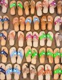 цветастые тапочки сбывания стоковое изображение rf
