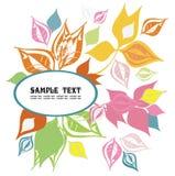 цветастые украшенные листья рамки Стоковая Фотография