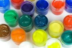 цветастые установленные краски Стоковые Фото