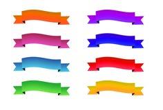 цветастые установленные тесемки Запас вектора бесплатная иллюстрация