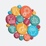 цветастые установленные иконы Стоковая Фотография