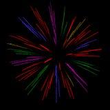 цветастые феиэрверки Стоковые Изображения