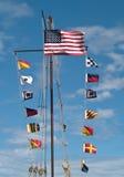 цветастые флаги Стоковые Изображения
