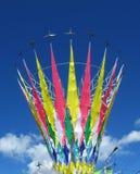цветастые флаги Стоковая Фотография RF