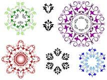 цветастые флористические орнаменты Иллюстрация вектора