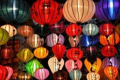Цветастые фонарики Стоковые Изображения