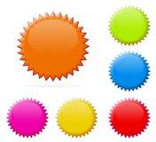 цветастые ценники Стоковые Фотографии RF