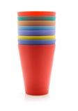 цветастые чашки выпивая лимонад Стоковые Изображения RF