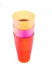 цветастые чашки Стоковые Изображения RF