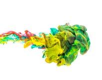 Цветастые чернила в воде Стоковое Фото