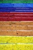 цветастые шаги Стоковые Изображения RF