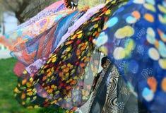 цветастые шарфы Стоковое Фото
