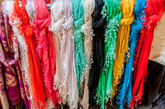 цветастые шарфы Стоковое фото RF