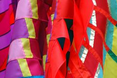 цветастые шарфы silk Стоковая Фотография RF