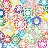 цветастые шестерни Стоковые Фотографии RF