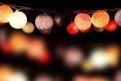 Цветастые электрические лампочки Стоковое фото RF