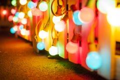Цветастые электрические лампочки Стоковое Изображение