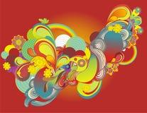 цветастые элементы конструкции свежие иллюстрация вектора
