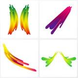 цветастые элементы конструкции Стоковое фото RF