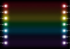 Цветастые электрические лампочки Стоковая Фотография RF