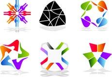 цветастые элементы конструкции Стоковое Изображение