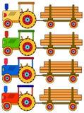 цветастые 4 трактора Стоковое Фото