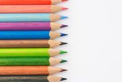 цветастые crayons стоковое изображение rf