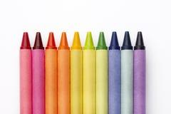 цветастые crayons Стоковое Фото