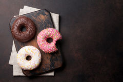 цветастые donuts стоковые изображения