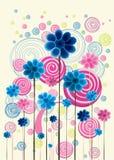 цветастые doodles флористические Стоковая Фотография
