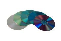 цветастые dvds Стоковое Изображение