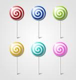 цветастые lollipops Стоковые Фотографии RF