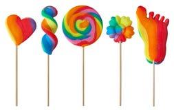 цветастые lollipops стоковые изображения rf