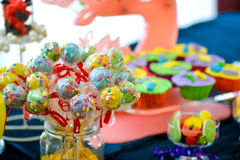 цветастые lollipops Стоковые Изображения