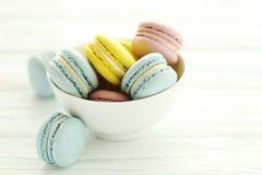 цветастые macarons Стоковая Фотография