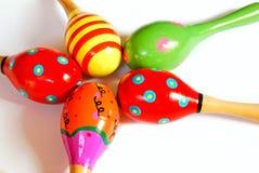 цветастые maracas toy деревянное Стоковые Изображения