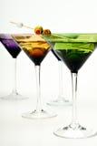 цветастые martinis стекел Стоковая Фотография