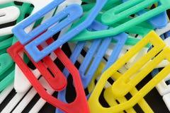 цветастые paperclips Стоковое фото RF