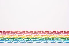 Цветастые paperclips Стоковые Фотографии RF