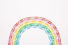 Цветастые paperclips Стоковое Изображение