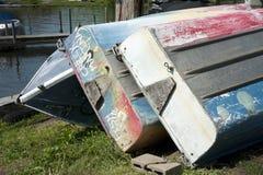 цветастые rowboats Стоковая Фотография
