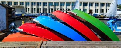 цветастые rowboats Стоковая Фотография RF